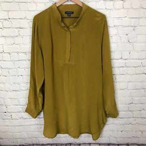 Lands' End 100% Silk long sleeve shirt sz 20
